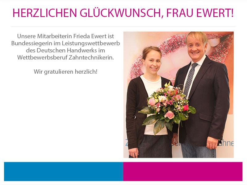 Herzlichen Glückwunsch, Frau Ewert